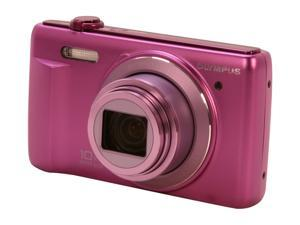 OLYMPUS VR-340 V105080VU000 Purple 16 MP 24mm Wide Angle Digital Camera