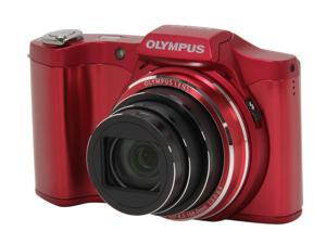 OLYMPUS SZ-12 V102081RU000 Red 14 MP 25mm Wide Angle Digital Camera HDTV Output