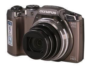 OLYMPUS SZ-31MR iHS V102060SU000 Silver 16 MP 25mm Wide Angle Digital Camera HDTV Output