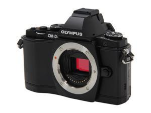"OLYMPUS OM-D E-M5 Black 16.1 MP Live MOS Interchangeable Lens Camera with 3"" OLED Touchscreen - Body Only"