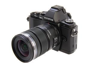 "OLYMPUS OM-D E-M5 Black 16.1 MP Live MOS Interchangeable Lens Camera with 3"" OLED Touchscreen - 12-50mm Lens Kit"