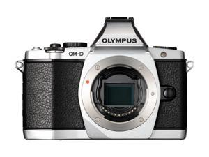 "OLYMPUS OM-D E-M5 Silver 16.1 MP Live MOS Interchangeable Lens Camera with 3"" OLED Touchscreen - Body Only"