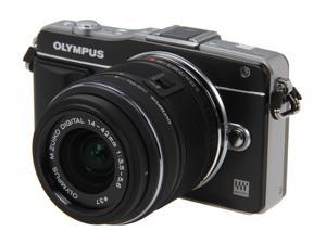 OLYMPUS E-PM2 (V206021BU000) Black Micro Four Thirds interchangeable lens system camera with 14-42mm II R M. Zuiko Lens