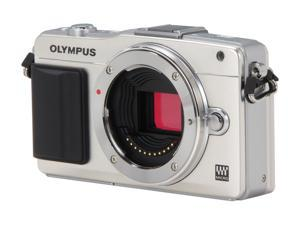 OLYMPUS E-PM2 Silver Micro Four Thirds Interchangeable Lens System Camera - Body