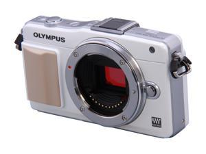 OLYMPUS E-PM2 White Micro Four Thirds Interchangeable Lens System Camera - Body
