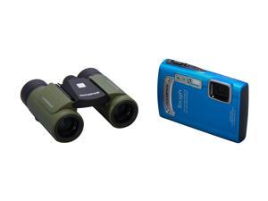 OLYMPUS Outdoor Adventure Pack: Tough TG-320 Digital Camera + Roamer 8 x 21 RC II Waterproof Binoculars