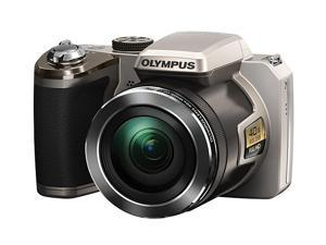 OLYMPUS SP-820UZ iHS V103050SU000 Silver 14 MP Digital Camera HDTV Output