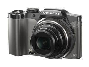 OLYMPUS SZ-30MR Silver 16 MP 25mm Wide Angle Digital Camera HDTV Output
