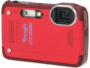 "OLYMPUS Tough TG-630 iHS V104110RU000 Red 12 MP 3.0"" 460K Digital Camera"