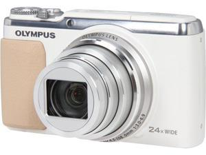 OLYMPUS SH-50 iHS White 16 MP 24X Optical Zoom Wide Angle Digital Camera HDTV Output