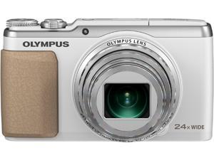 OLYMPUS SH-50 iHS V107050WU000 White 16 MP Wide Angle Digital Camera HDTV Output