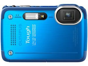 OLYMPUS TG-630 iHS Blue 12 MP 5X Optical Zoom Waterproof Shockproof Wide Angle Digital Camera HDTV Output
