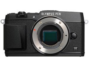 "OLYMPUS PEN E-P5 V204050BU000 Black 16.1 MP 3.0"" 1037K Touch LCD Micro Four Thirds interchangeable lens system camera - Body"