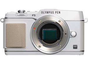 "OLYMPUS PEN E-P5 V204050WU000 White 16.1 MP 3.0"" 1037K Touch LCD Micro Four Thirds interchangeable lens system camera - Body"
