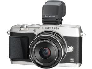 "OLYMPUS PEN E-P5 V204053SU000 Silver 16.1 MP 3.0"" 1037K Touch LCD Micro Four Thirds interchangeable lens system camera with ..."