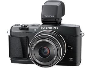 "OLYMPUS PEN E-P5 V204053BU000 Black 16.1 MP 3.0"" 1037K Touch LCD Micro Four Thirds interchangeable lens system camera with ..."