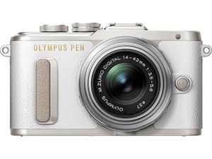 OLYMPUS V205081WU000 White PEN E-PL8 White Body with 14-42 IIR Silver Lens