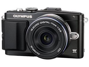 OLYMPUS PEN E-PL5 V205041BU020 Black Micro Four Thirds Interchangeable Lens System Camera with 14-42mm II R Lens and PT-EP10
