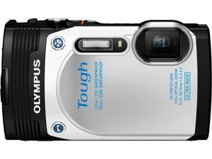 "OLYMPUS Stylus TOUGH TG-850 V104150WU000 White 16MP 3.0"" 460K Action Camera"