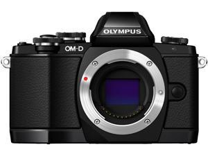 "OLYMPUS OM-D E-M10 V207020BU000 Black 16.1MP 3.0"" 1037K Touch LCD Digital Camera - Body Only"