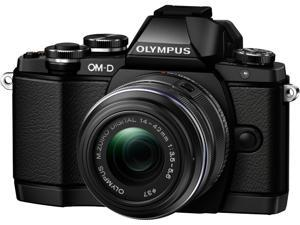 "OLYMPUS OM-D E-M10 V207021BU000 Black 16.1MP 3.0"" 1037K Touch LCD Digital Camera with 14-42mm 2RK Lens"
