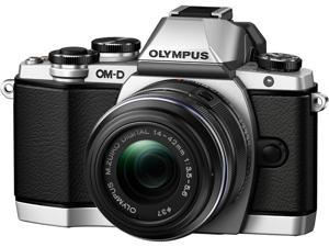 "OLYMPUS OM-D E-M10 V207021SU000 Silver 16.1MP 3.0"" 1037K Touch LCD Digital Camera with 14-42mm 2RK Lens"