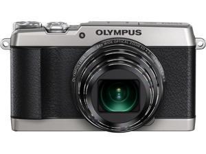OLYMPUS Stylus SH-1 V107080SU000 Silver 16MP 24X Optical Zoom 25mm Wide Angle Digital Camera