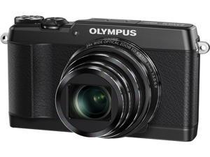 OLYMPUS Stylus SH-1 Black 16MP 24X Optical Zoom 25mm Wide Angle Digital Camera