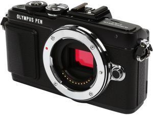 "OLYMPUS PEN E-PL7 V205070BU000 Black 16.1MP 3.0"" 1037K Touch LCD Micro Four Thirds Interchangeable Lens System Camera - Body"