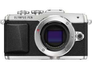 "OLYMPUS PEN E-PL7 V205070SU000 Silver 16.1MP 3.0"" 1037K Touch LCD Micro Four Thirds Interchangeable Lens System Camera - Body"