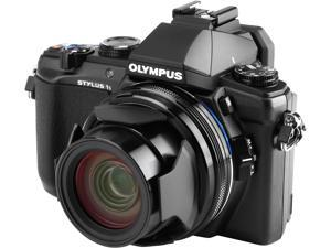 OLYMPUS Stylus 1s Black 10.7X Optical Zoom 28mm Wide Angle Digital Camera