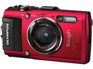 Olympus Stylus TOUGH TG-4 Digital Camera, Red, V104160RU000