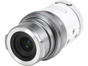 OLYMPUS AIR A01 V208011WU000 White 16.05 MP Mirrorless Micro Four Thirds Lens-Style Digital Camera with 14-42mm EZ Lens