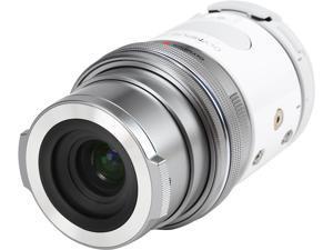 OLYMPUS AIR A01 V208011WU000 White 16.05 MP Mirrorless Micro Four Thirds Lens-Style Digital Camera with 14-42mm EZ Lens