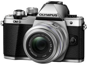 OLYMPUS OM-D E-M10 Mark II V207052SU000 Silver Body with 14-42 Silver EZ Lens