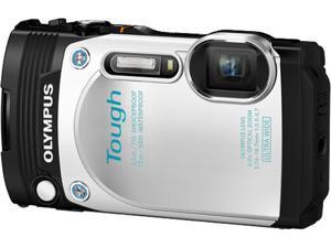 """OLYMPUS TG-870 V104200WU000 White 3.0"""" 920K Digital Camera"""