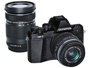 Olympus OM-D E-M10 Mark II Mirrorless Micro Four Thirds Digital Camera with 14-42mm and 40-150mm Lenses