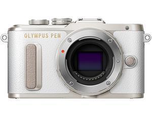 OLYMPUS V205080WU000 White PEN E-PL8 Black Body