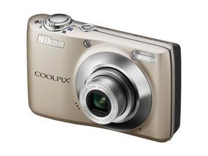 Nikon COOLPIX L22 Champagne Silver 12.0 MP Digital Camera