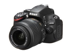 Nikon D5100 25478 Black DSLR Camera w/1855 VR Lens