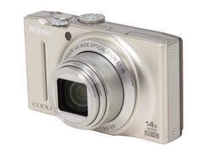 Nikon COOLPIX S8200 Silver 16.1 MP 25mm Wide Angle Digital Camera