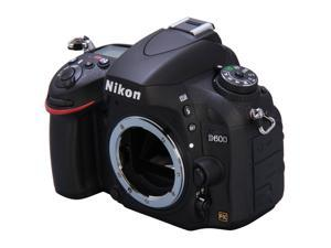 Nikon D600 Black Digital SLR Camera - Body