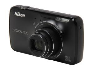 Nikon Coolpix S800c Black 16.0 MP 25mm Wide Angle Digital Camera HDTV Output