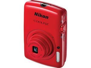 Nikon COOLPIX S01 Red 10.1 MP Digital Camera