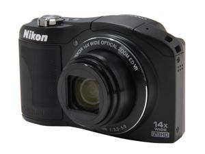 Nikon Coolpix L610 Black 16.0 MP 25mm Wide Angle Digital Camera HDTV Output
