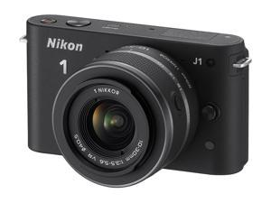 Nikon 1 J1 10.1 MP HD Digital Camera System with 10-30mm VR 1 NIKKOR Lens (Black)