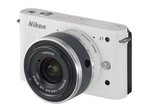 Nikon 1 J1 10.1 MP HD Digital Camera System with 10-30mm VR 1 NIKKOR Lens (White)