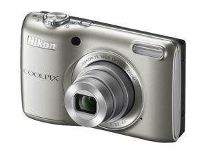 Nikon COOLPIX L26 Silver 16.1 MP 26mm Wide Angle Digital Camera