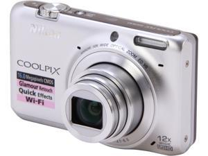 Nikon COOLPIX S6500 26370 Silver 16 MP Digital Camera HDTV Output