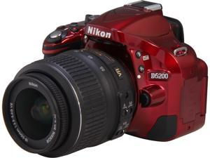 Nikon D5200 1507 Red Digital SLR Camera with 18-55mm VR Lens Kit